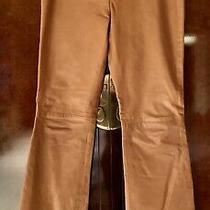 Mackage Leather Pants Size 100% Leather Caramel Low Rise Slim Leg W Flare Soft Photo