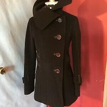 Mackage Lesther Trim Wool Cashmere Blend Coat Black Sz  Xs Photo