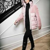 Mackage Oversized Down Jacket With Wool Teddy Insets (Size Large)  Photo