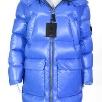 Mackage Womens Water Repellent Hooded Puffer Coat Blue Black Size 38 Photo