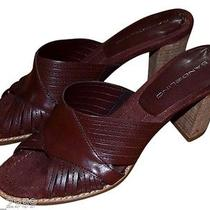 Macy's Bandolino Sandals Sz 7 Brown Slides Sandals Heels  New  Photo