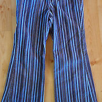 Macy's  Christie Brooks Girls Blue Stripe Corduroy Pants Size 12 Photo