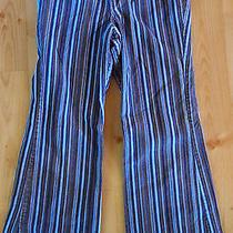 Macy's  Christie Brooks Girls Blue Stripe Corduroy Pants Size 12 Photo