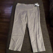 Macy's Grace Elements Ankle Pants Women's Size 14 Side Zip Tan New With Tags  Photo