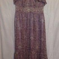 Macy's Guess Casual Evening Lavender Crotchet Lace High Low v Neck Dress Skirt 1 Photo