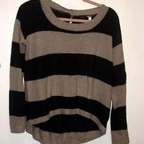 Macy's Kensie Black and Brown Striped Top Photo