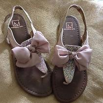 Macy's Material Girl Blush-Pink Sandals Size 8-Medium- New- No Box-  Photo
