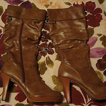 Macy's Rampage Brittany Camel Boots Size 10m Photo