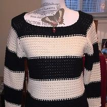 Macy's Sanctuary Nwt Boat Neck Striped Sweater Size S Photo
