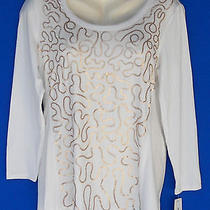 Macy's Style & Co Pl Sequin White Shirt Blouse Top Nwt Photo