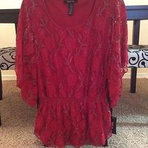 Macy's style&co. Red Lace Top - Brand New With Tag Photo