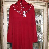 Macy's style&co Sweater Dress With Scarf Size  L Photo