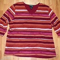 Macy's Style & co.woman Sz 1x  3/4 Sleeve Blouse  Euc Photo