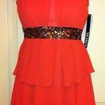 Macy's Xoxo Heartbreaker Dress Size 0 Formal Cocktail Evening Orange Photo