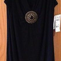 Macys Elements Stretch Resort Wear Black Dress With Embellishment Nwt Medium Photo