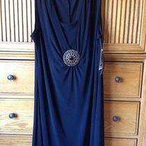 Macys Elements Stretch Resort Wear Black Dress With Embellishment Nwt Large Photo
