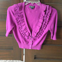 Macys Rampage Brand Short Sleeve Cardigan Sweater - Jrs Size M Photo