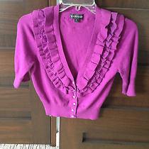 Macys Rampage Brand Short Sleeve Cardigan Sweater - Jrs Size M Photo