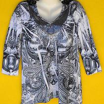 Macys Style & Co Small Velvet Een Sequin Shirt New  Photo