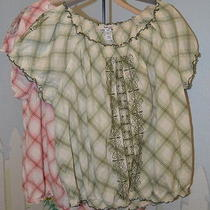 Macys Style & Co Womens 2 Blouses Rose & Green Size 16w Photo