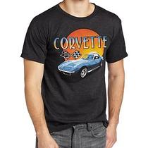 Mad Engine Men's Chevy Corvette Sunset Tee Charcoal Heather Xx-Large Photo