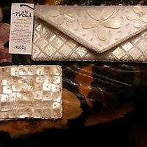 Mad Style Purse & Coin Purse Handmade Mother of Pearl & Natural Horn -( Nwt ) Photo