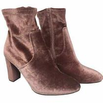Madden Girl Blush Velvet Chunky Heel Ankle Boots Size 8 Women's Photo