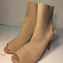 Madden Girl Sandals Women Size 11 Raandy Blush Fab Tan Heels Randy Knit Sock Rr Photo