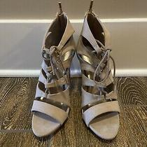 Madden Girl Womens Blush Beige Neutral Racey Strappy Suede Stiletto Heels Sz 7.5 Photo