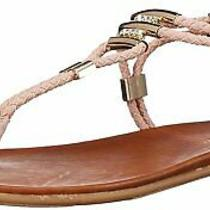 Madden Girl Womens Flexil Split Toe Casual T-Strap Blush Fabric Size 8.5 B7oh Photo