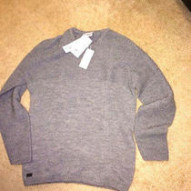 Made in France Nwt Lacoste Mens 225 Alpaca Gray Crew Neck Sweater 7 Xl Extra Lg Photo