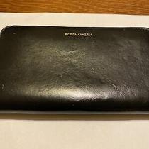 Made in Italy Bcbg Maxazria  Leather  Zip Around  Wallet Black Photo