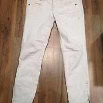Madewell 128  Zip Jeans in Pure White Size 27  Photo