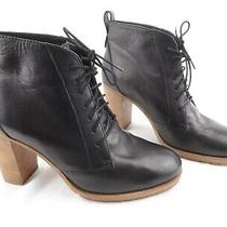 Madewell 1937 Black Lace Up Heel Ankle Bootie Boots Made in Italy Womens Sz 8 Photo