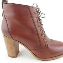 Madewell 1937 Brown Lace Up Heel Ankle Bootie Boots Made in Italy Womens Sz 8 Photo