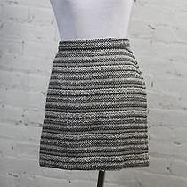 Madewell 1937 Women's Striped Gray Polyester Acrylic Straight Skirt 6 Photo