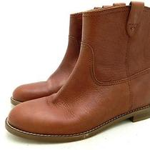 Madewell 198 the Pull on Boots 7 Mahogany Boots Shoes Leather Preowned Photo