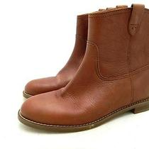 Madewell 198 the Pull on Boots 8.5 Mahogany Boots Shoes Leather Photo