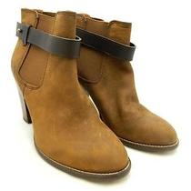 Madewell 238 Leather Lonny Boots in Distressed Leather Sz 10 Brown Photo
