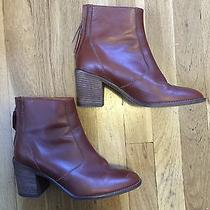 Madewell Ames Leather Boot Cognac Size 6 Photo