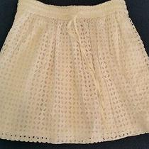 Madewell Bayfront Eyelet Skirt 78 A1619 Size Small S White Mini Above Knee Photo