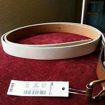 Madewell Belt Creamy Beige 100% Leather Sz Xs / S by J Crew Photo