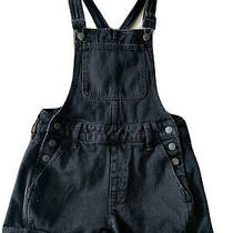 Madewell Black Overalls Short Coveralls Womens Size Xs Black Denim Cute Fashion Photo