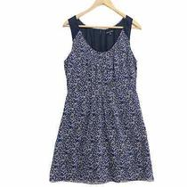 Madewell Broadway & Broome 100% Silk Floral Dress Blue White Pockets Size 10 Photo