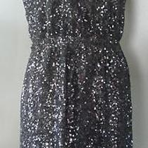 Madewell Broadway & Broome Sequin Lightbox Dress Black Evening Formal 2 Xs 158 Photo