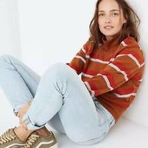 Madewell Brown Stripe Sweatshirt Xs Photo