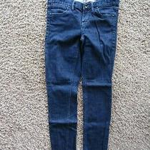 Madewell Capri Dark Wash Skinny Jegging Denim Jeans Pants Women's Size 24 X 27 Photo