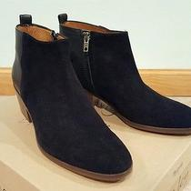 Madewell Charley Ankle Boots Booties Black Suede and Leather Size 8 Photo