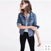 Madewell Classic Denim Jean Jacket 118  Medium Wash Size M Nwot Photo