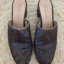 Madewell Closed-Toe Mules in Dark Spotted Calf Hair Size 6 Photo